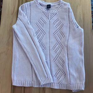 Lavender Pointelle Gap sweater